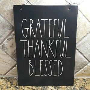 New Rae Dunn GRATEFUL, THANKFUL & BLESSED Sign